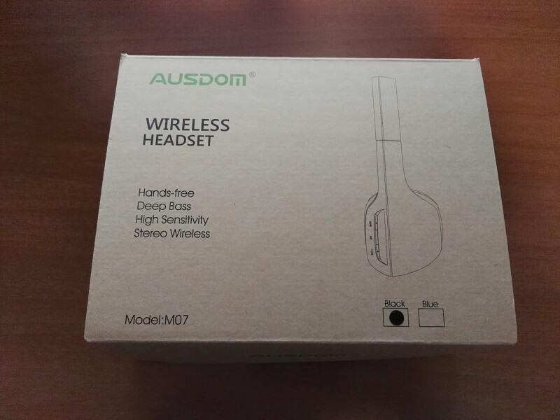 scatola-unboxing-cuffia-wireless-ausdom