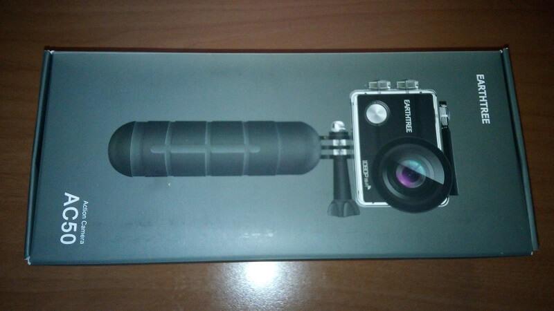 Action cam Earthtree AC50, 1080p impermeabile