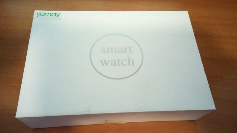 Confezione dello smart watch di Yamay, IP68 e notifiche dal cellulare