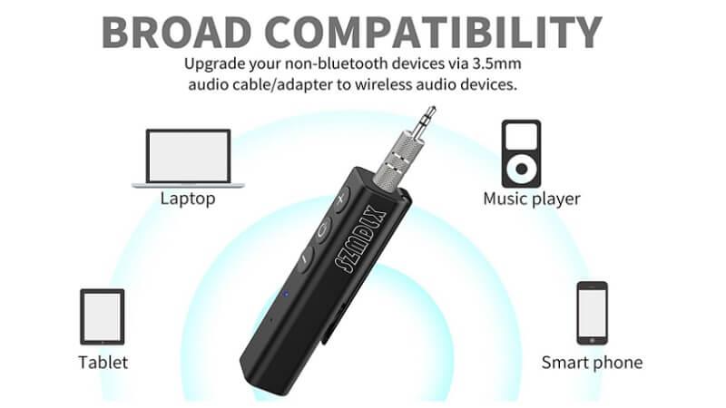 Ricevitore bluetooth SZMDLX, per il PC, cellulare, tablet e qualsiasi dispositivo audio