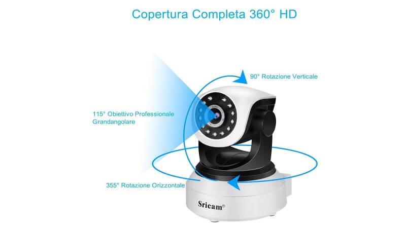 Sricam, IP camera con collegamento wireless a 720p