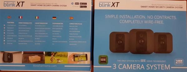 Confezione della videocamera di sorveglianza Blink XT