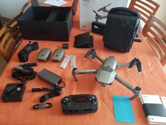 Accessori inclusi nella confezione all'acquisto del drone DJI Mavic PRO Platinum
