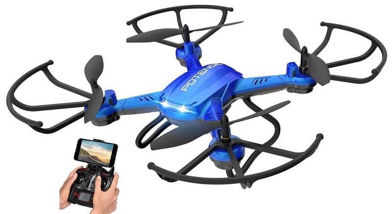 Drone potensic, quadricottero a 6 assi con telecamera
