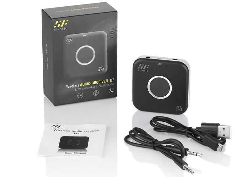 Ricevitore audio bluetooth Siroflo B7, connessione BT 4.1
