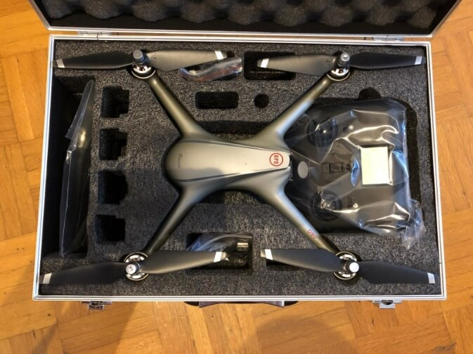 La veliga, confezione del drone Potensic D80