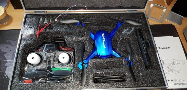 La confezione ed il contenuto del drone Potensic F181DH