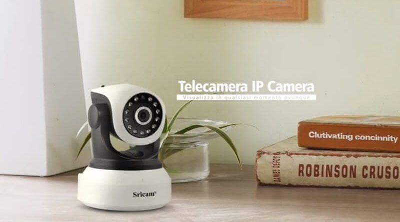 Telecamera di sorveglianza Sricam Sp017, IP e controllo remoto da smartphone