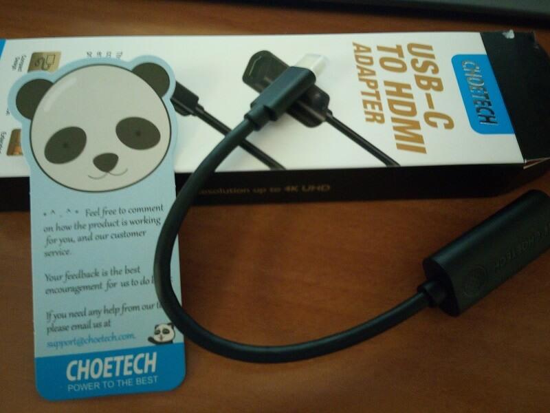 Confezione di Choetech adapter USB type-C to HDMI