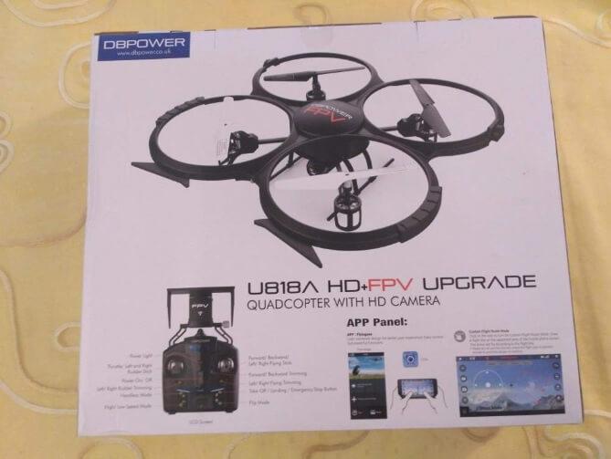 Confezione del drone DBPower U818A