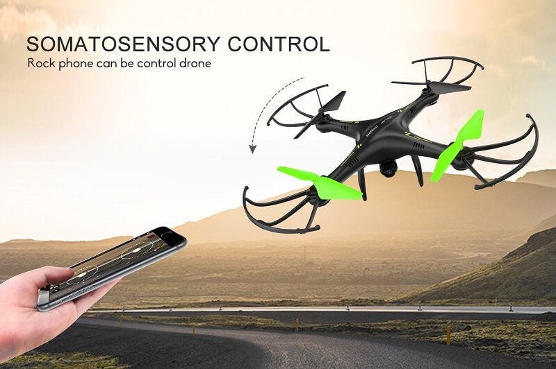 Controllo del drone Potensic U42W grazie alla stabilizzazione dei sensori