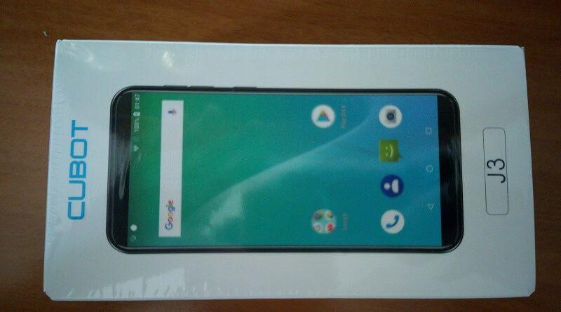 Smartphone Android Cubot J3, la sua scatola ancora sigillata