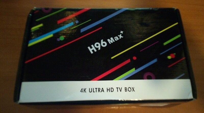 Confezione TV box Android H96 Max +