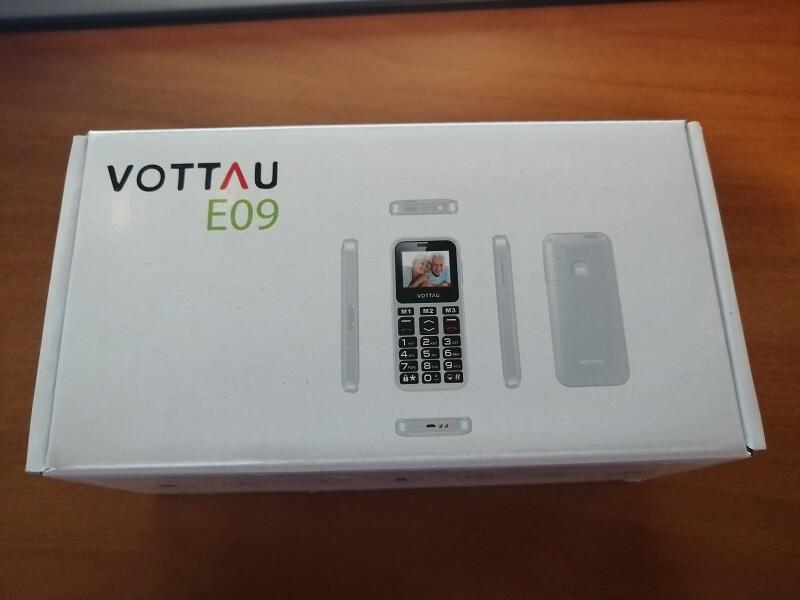 Confezione del telefono per anziani Vottau E09