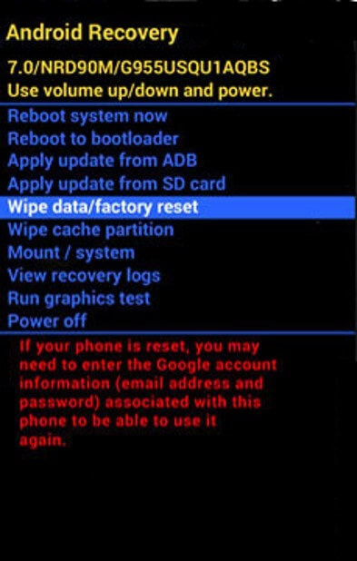 Android recovery - hard reset Oukitel