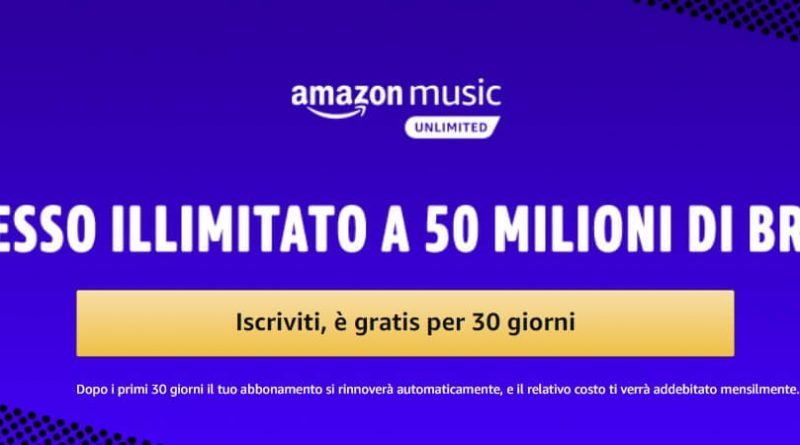 Amazon Music Unlimited come funziona