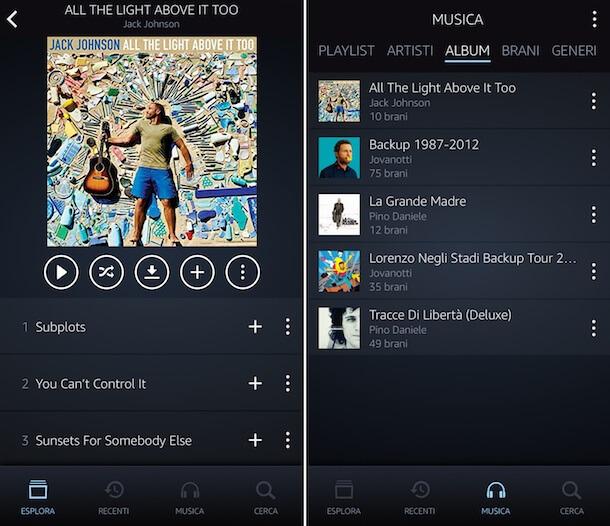 Ascoltare Amazon Music Unlimited