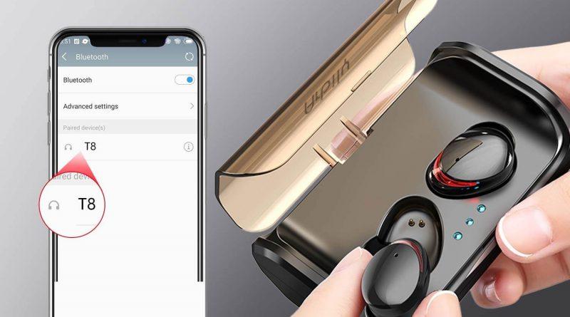 Cuffie wireless Arbily con custodia di trasporto e ricarica batteria