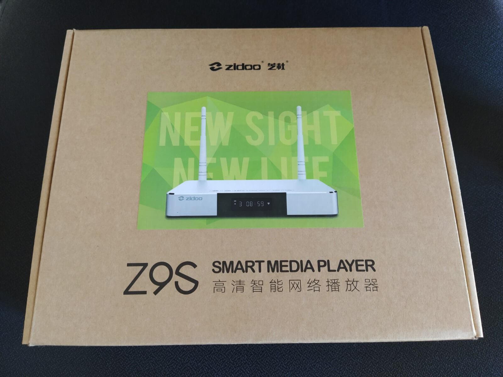 Confezione TV box Zidoo Z9S